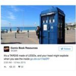 TARDIS Made From LEGO Bricks