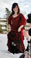 Red barmaid dress worn by Clara