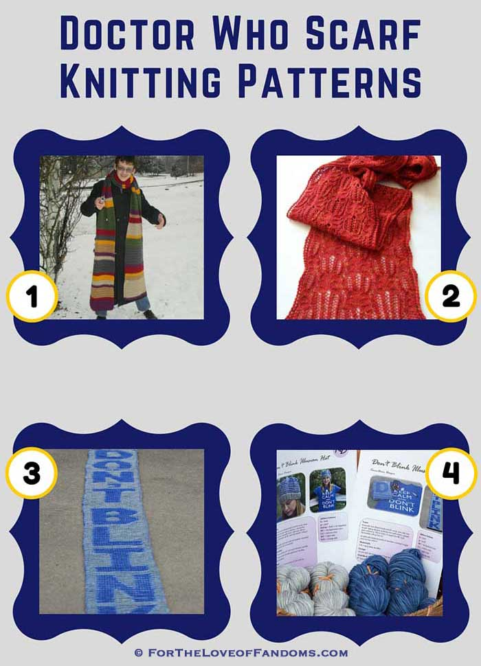 Doctor Who Scarf Knitting Patterns • For The Love of Fandoms
