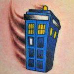 Flying TARDIS Tattoo