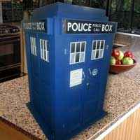 Wine cabinet inspired by the TARDIS