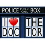 """I Love Doctor Who"" Cutting Board"