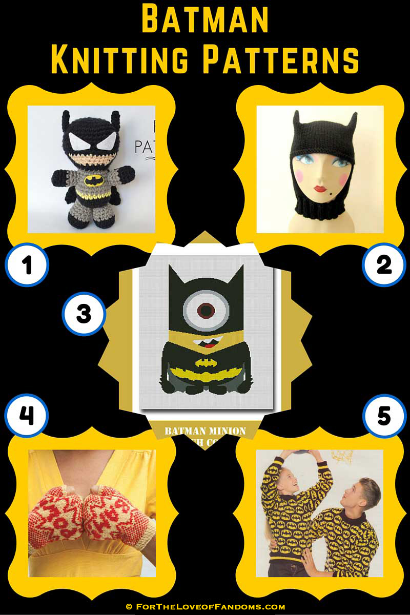 Batman Knitting Patterns • For The Love of Fandoms