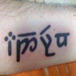 Elvish Writing Tattoo