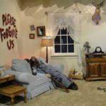 Please Forgive Us Living Room