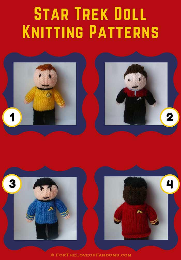 Star Trek Doll Knitting Patterns For The Love Of Fandoms